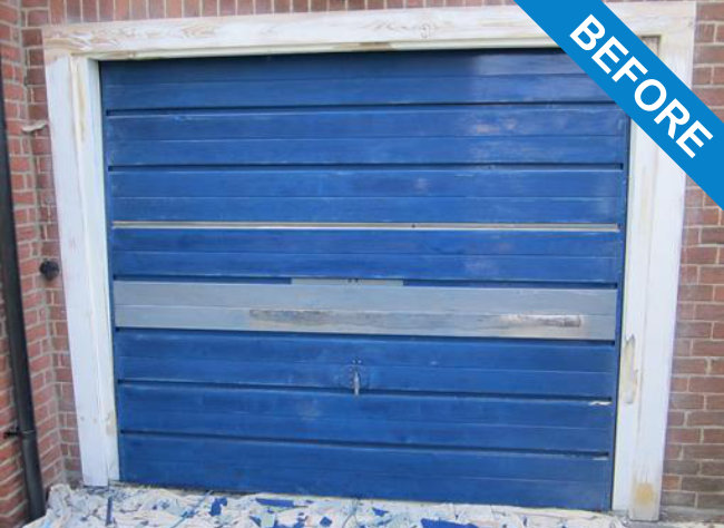Garage door spraying service garage door painting hc ltd for Garage doors uk