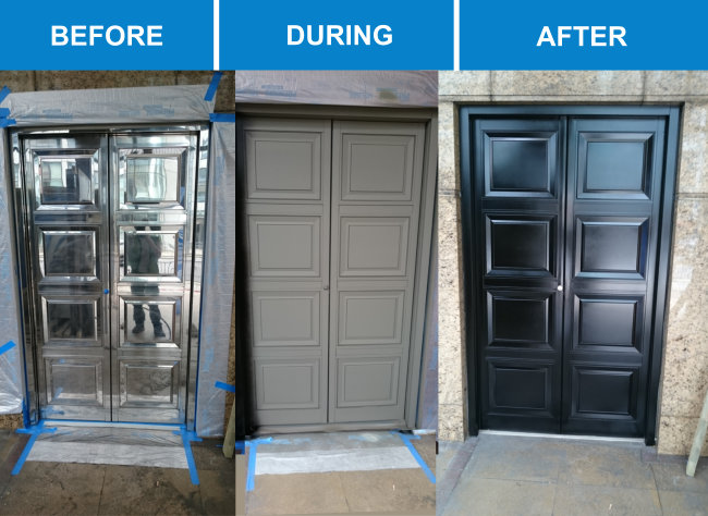 Door spray painting service inc upvc doors haywood for How to spray paint doors