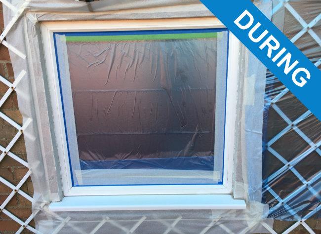 Double Paint Windows : Spraying window frames spray paint double glazed windows