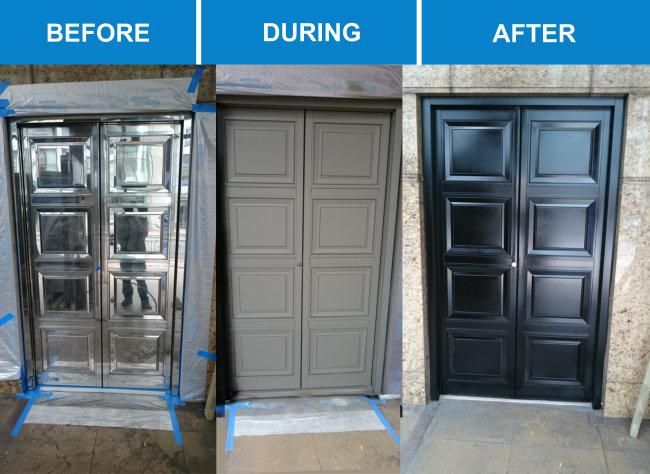 Door Spray Painting Service Inc Upvc Doors Haywood